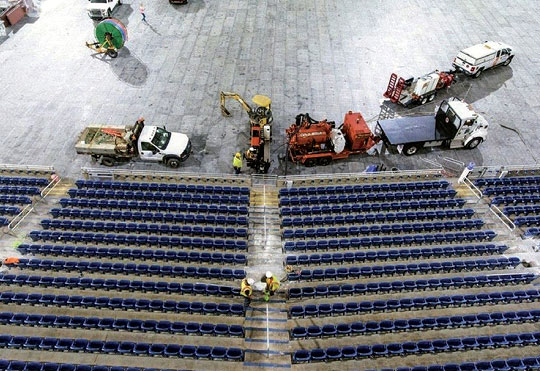 Renovations being done inside Ford Field