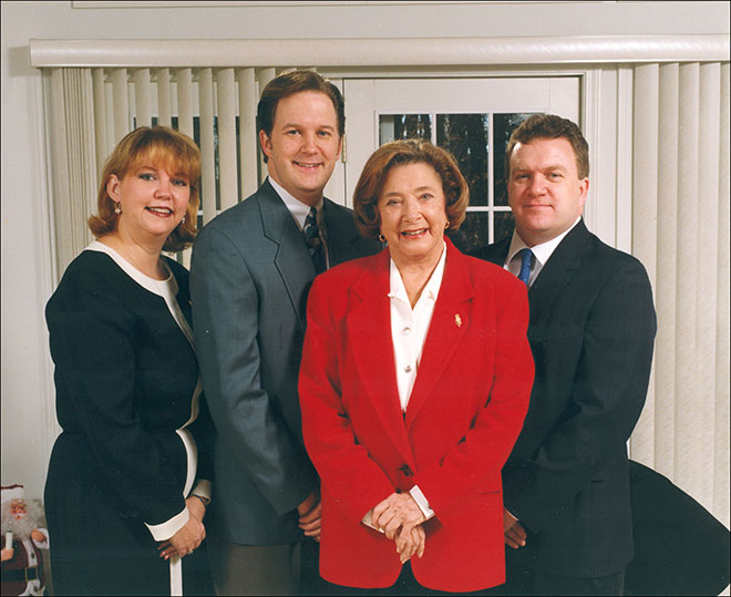 Photo of the O'Bryan family in the 1990's