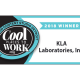 Cool places to work award with KLA Laboratories name on it