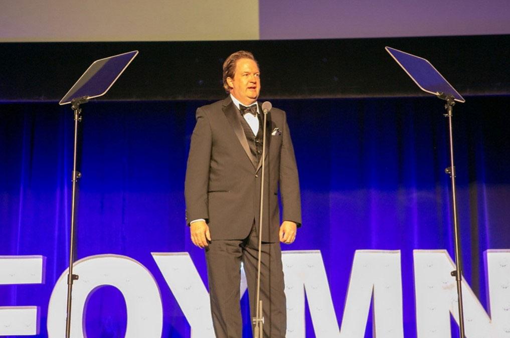 Matt O'Bryan peaking on stage