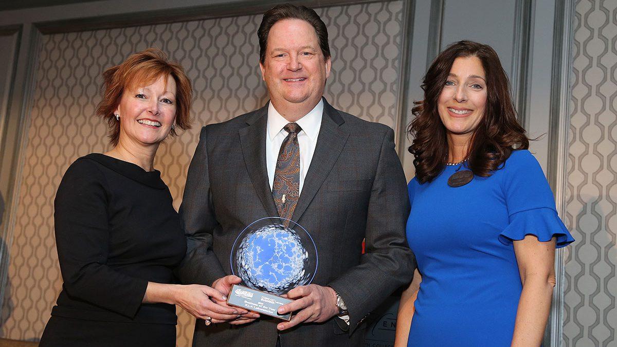 Matt O'Bryan accepting 2019 Business of the Year Award