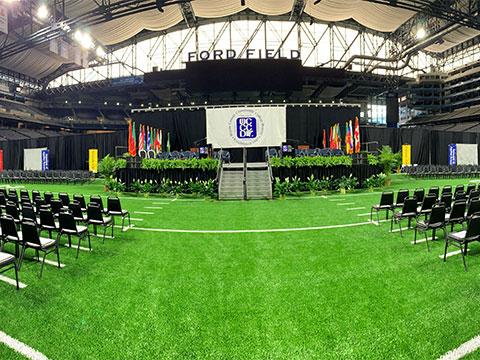 graduation at Ford Field